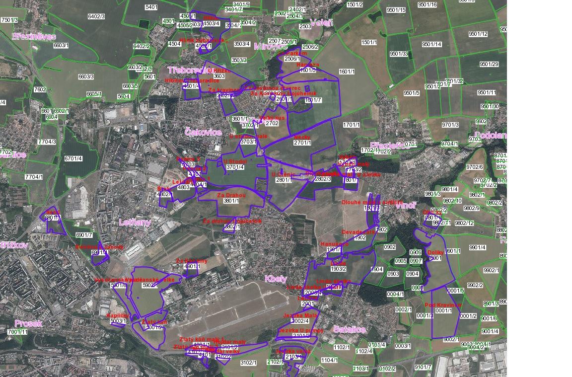 mapa půdní bloky Vin agro