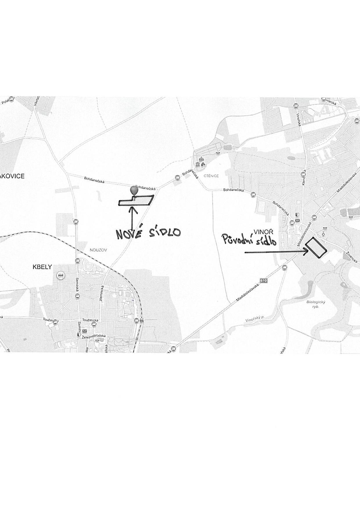 sídlo mapa